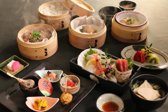 【事前カード決済】2食付(夕食:みちのく祭りや 夕食膳 + 朝食:ビュッフェ)