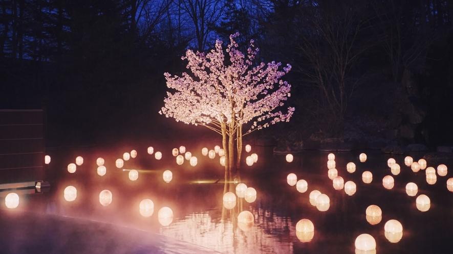 【ねぶた桜灯りの湯】