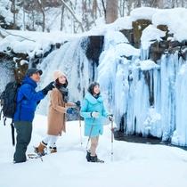 冬のアクティビティ「氷瀑観賞ガイドツアー」