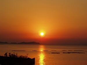 橘湾の夕日