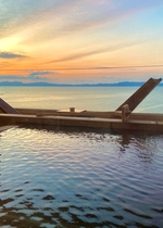 お部屋からの夕日♪小浜温泉No1の絶景♪♪お部屋は全室が海側オーシャンビューです♪♪♪