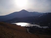 白樺湖の全景