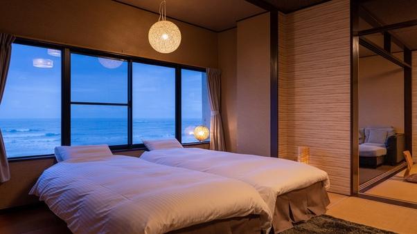 【禁煙】【和室二間】ベッドタイプ 太平洋一望の海側客室