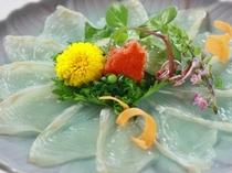 【別注料理】ひらめの薄づくり2,100円