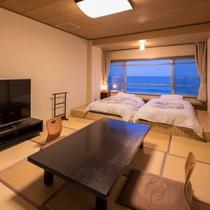 【和室一間・ツイン】太平洋一望の海側客室