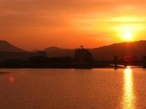 みくま川の夕焼け