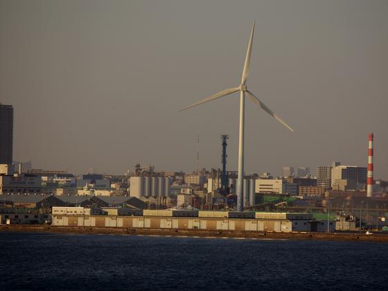神奈川区にある風力発電所