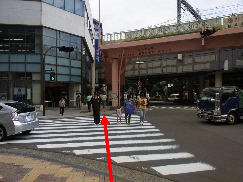 【JR鶴見駅より(6)】横浜銀行の脇を抜けて・・・
