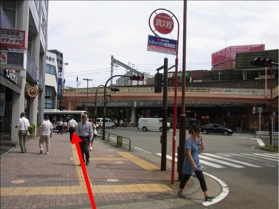 【JR鶴見駅より(5)】ずっと真っ直ぐ来てください。