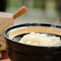 【ご朝食一例】一組様ごとに炊き上げる土鍋ご飯