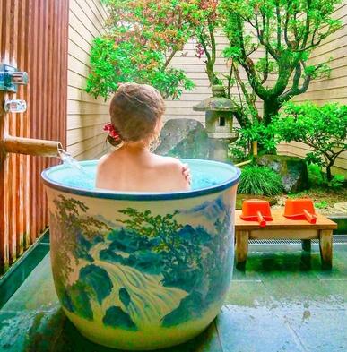 【日帰り貸切温泉+嬉野名物湯豆腐】陶器風呂と嬉野名物湯豆腐プラン!【ファミリー・カップル・友達と!】