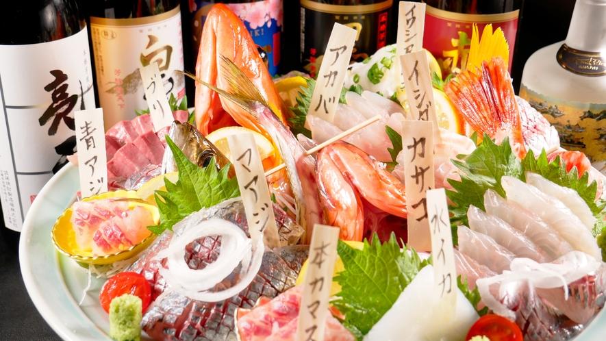 市場に出回る事のない、希少な魚に出会う事も!(写真は4人前)