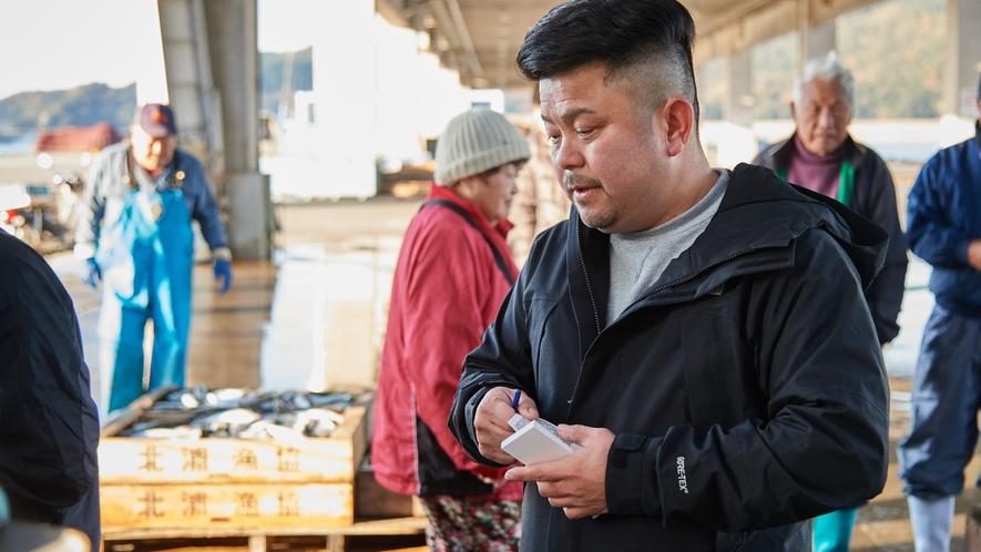 【北浦古江漁港】毎朝港に向かって生きのいい魚を仕入れています。