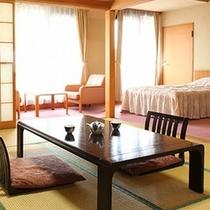 【和洋室】和室10畳+ツインベッド(一例)