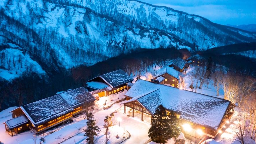 【冬】雪化粧した八甲田に抱かれる