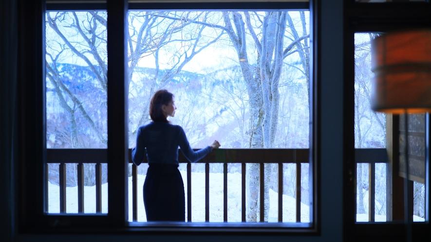 【お部屋イメージ】窓からの景色を一面ご覧頂けます。
