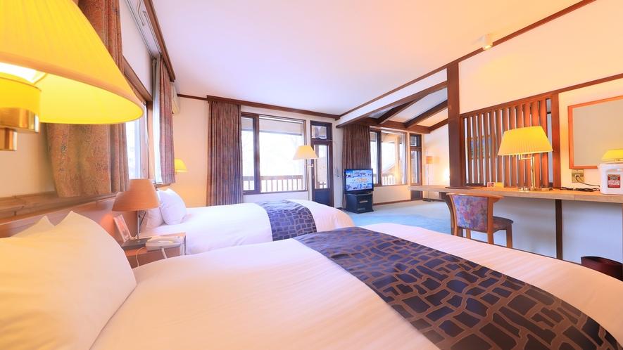 【特別室(一例)】最高の休日にピッタリのベッドルーム。