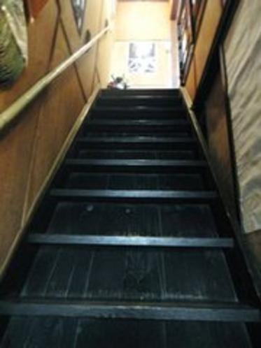 町屋(清水)の1階から2階への階段