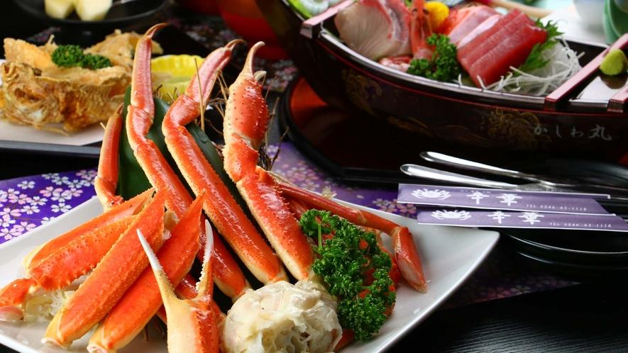 ■ご夕食 ズワイガニ 新鮮なカニの美味しさを満喫!ジューシーな蒸しズワイガニをどうぞ!