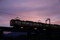 夕暮れの三岐鉄道