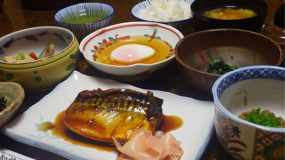 *朝食一例/バランスのとれた、身体に優しい和食をご用意いたします。