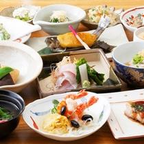 *夕食一例/クチコミ好評価☆川魚、肉、野菜と地元の食材中心の手作りの懐石料理をご用意致します。