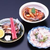 *夕食一例/鯉や川魚を使ったお料理も。優しい里山の恵みをご堪能下さい。