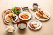 バイキング朝食一例
