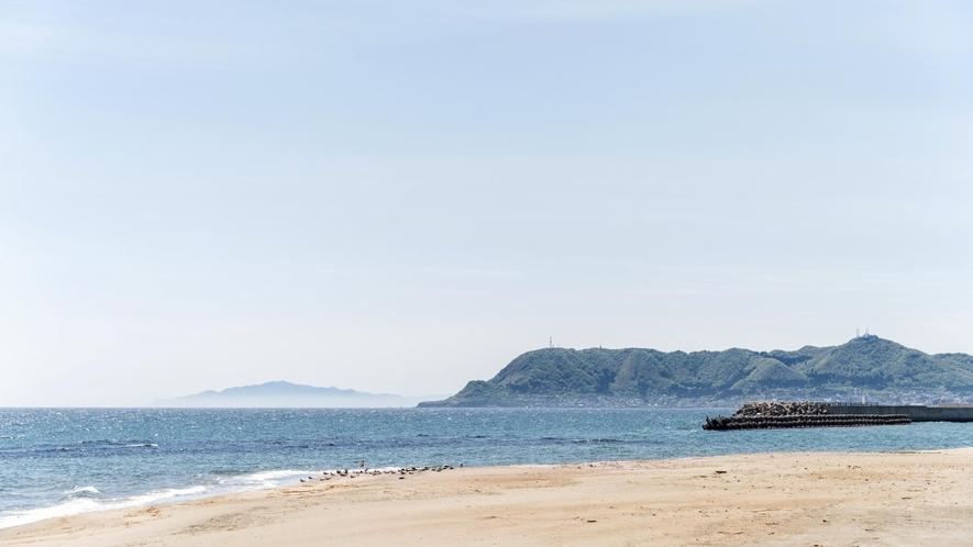 大森浜と函館山