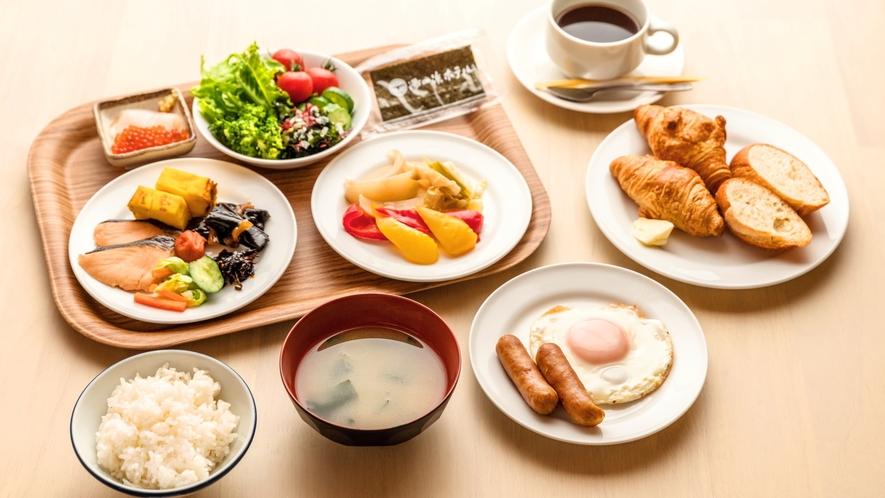 バイキング春楡朝食盛り付け例(イメージ)
