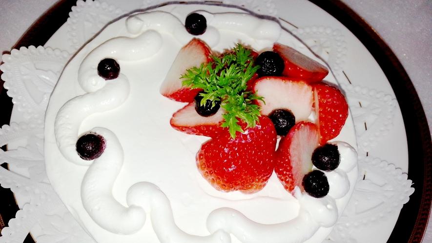 *【女将の手作りケーキ】記念日などのお祝いにもぴったり♪