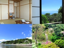 部屋と海と中庭
