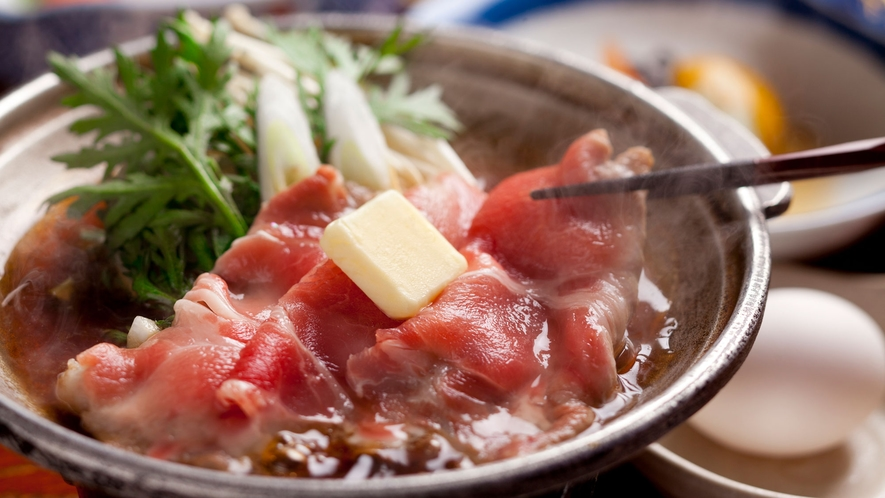 北海道産ポークのすき焼き