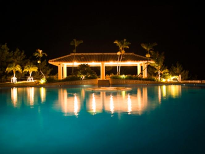 【ガーデンプール】/夜景