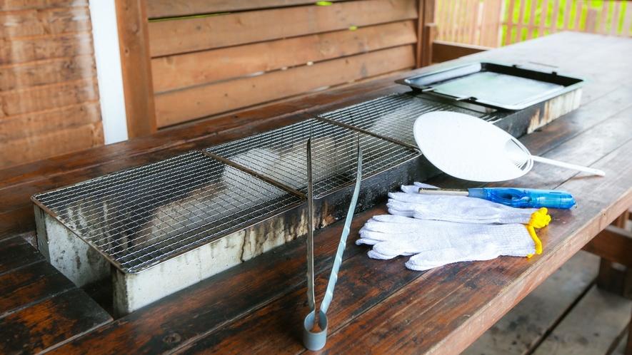 *【客室一例】BBQ棟には専用のBBQテーブルを設置