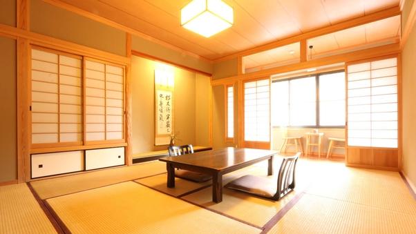 【和室10畳+広縁】ひろびろとした川側のお部屋
