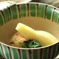 【夕食の一例】季節の旬のものをとり入れた逸品
