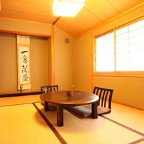 【和室6畳】山側のお部屋で春は桜、夏は新緑、秋は紅葉、冬は雪景色と四季折々の長湯をお楽しみください