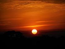 客室から見える日の出