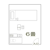 「洋室シングル(トイレ付)」見取り図