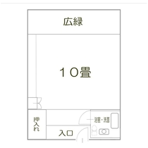 「晴れたら北海道雄大な旭岳全景が一望できる和室」見取り図