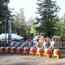 【山の祭り(夏)】羽衣太鼓の迫力ある生演奏。