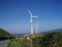 俵山の風車(宿から車で20分)