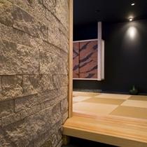 露天・内湯付きモダン洋和室の「桜」の和室