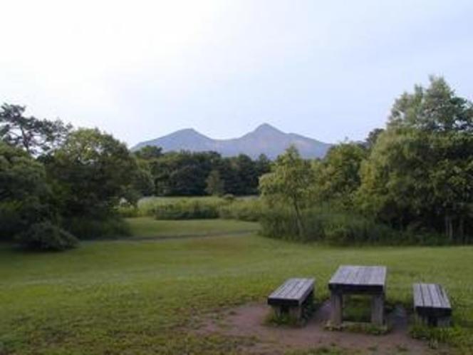 レンゲ沼より磐梯山