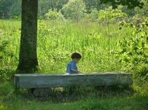 レンゲ沼と子供