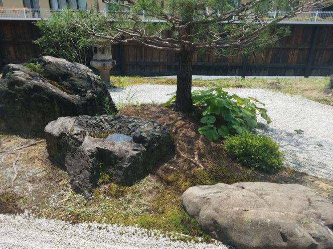 入り口の庭園