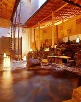 源泉掛流しの露天風呂