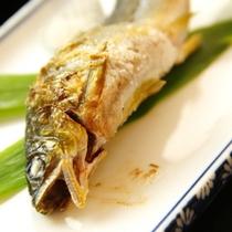 お料理の一例≪鮎の塩焼き≫