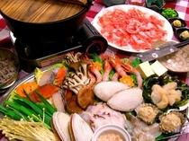 オホーツク食材満載のしゃぶしゃぶ鍋が楽しい!旨い!
